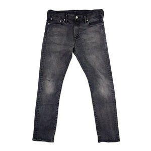 Levi's 510 Jeans Men's 33 Black Skinny Denim Zip